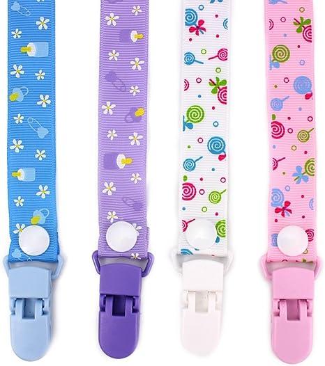 RUBY - Pack 4 Chupeteros de Colores Diferentes. Cadena Chupete ...