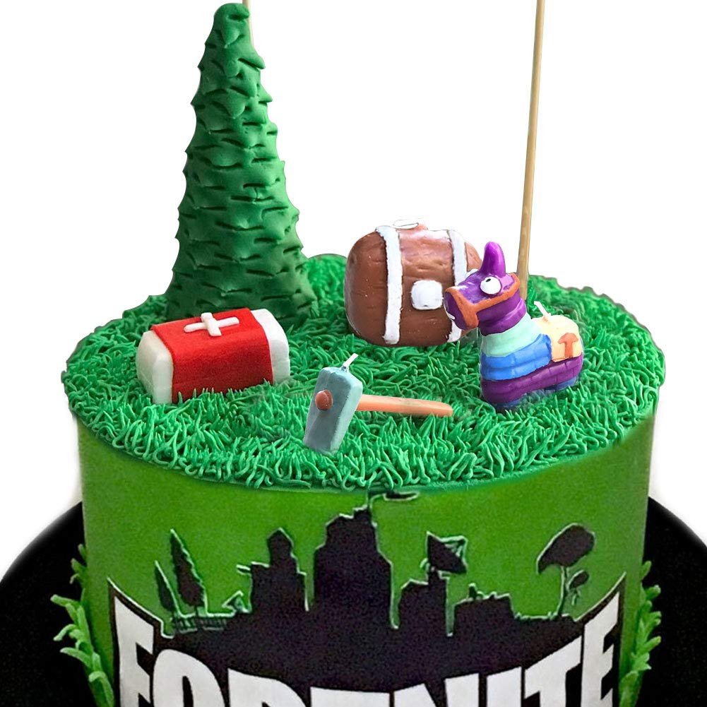 Outstanding Fn Video Game Cake Toppers Kit Llama Loot Chest Cake Decorations Birthday Cards Printable Trancafe Filternl