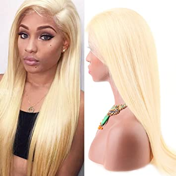 Amazoncom Sent Hair 613 Full Lace Wig Human Hair Pre Plucked With