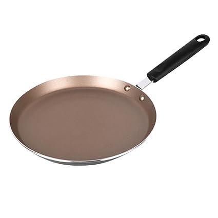 SAVORLIVING Sarten Plana Antiadherente Stir Fry Pan con Mango Resistente al Calor Sartén de Aluminio,
