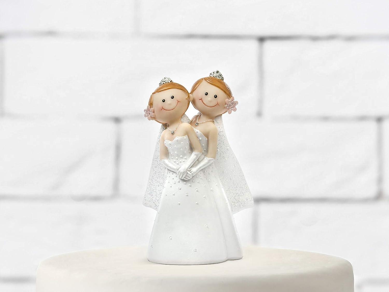 CAKE TOPPER IN RESINA LEI /& LEI SPOSE OMOSESSUALI SPIRITOSE H 11 CM