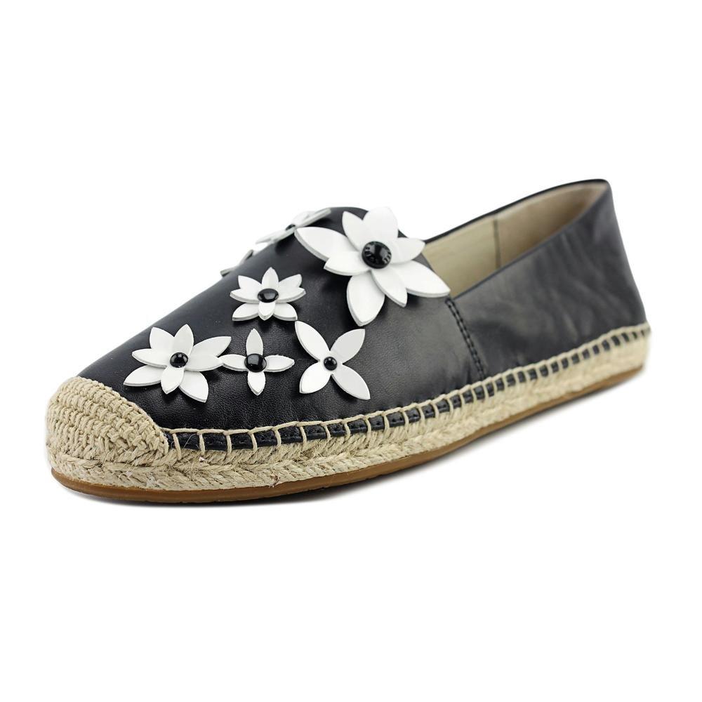 MICHAEL Michael Kors Women's Lola Espadrille Black/Optic White Nappa/Patent Sandal