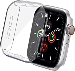 ONMROAD Case for Apple Watch Series 5 4 3 2 Soft TPU All-Around Clear Screen Protector Cover Protective Case 40mm
