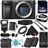 Sony Alpha a6300 Mirrorless Digital Camera (International Model) No Warranty + NP-FW50 Replacement Lithium Ion Battery + External Rapid Charger + 128GB SDXC Class 10 Memory Card Bundle