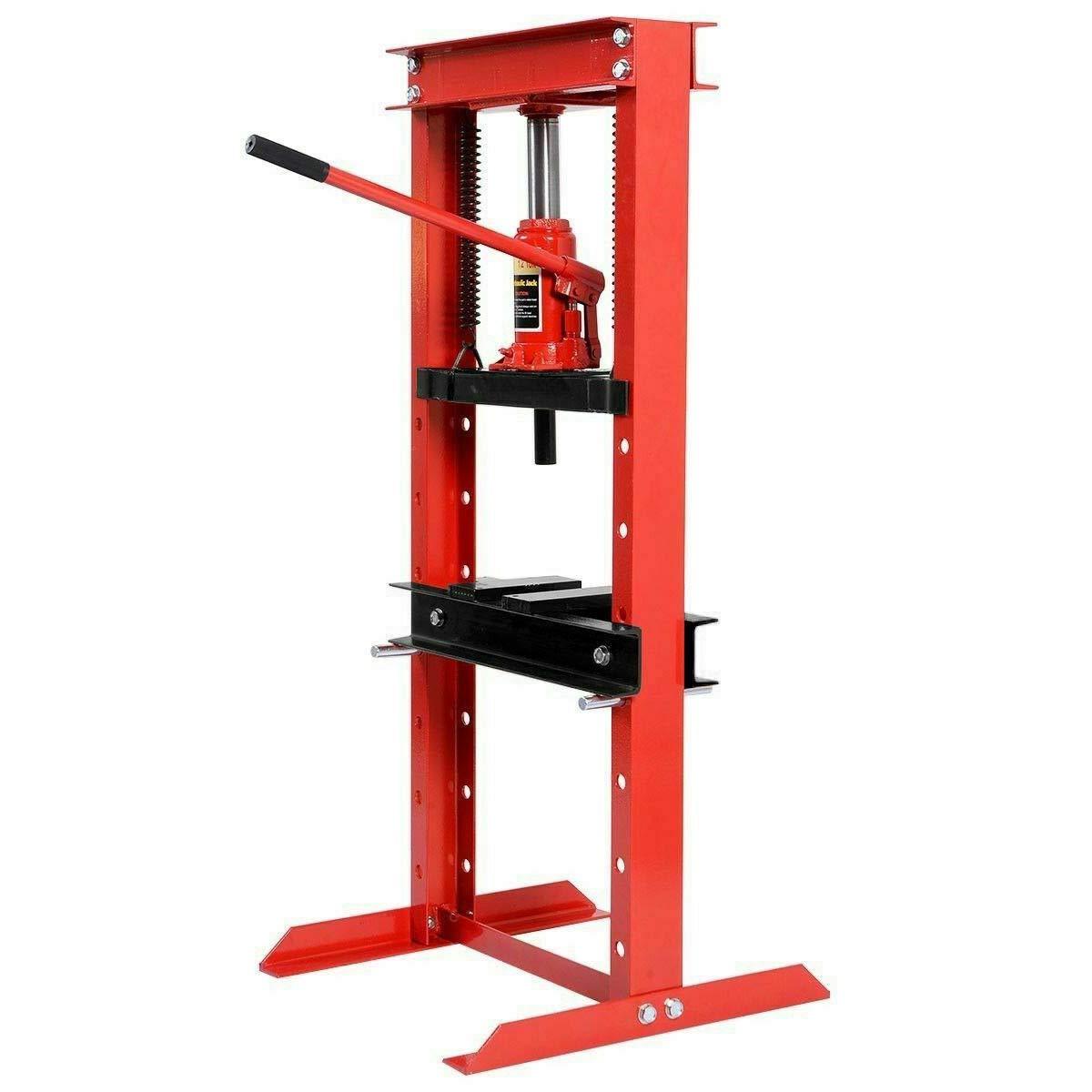 Goplus 12 Ton Hydraulic Floor Shop Press H-Frame w/Heavy Duty Steel Plates by Goplus