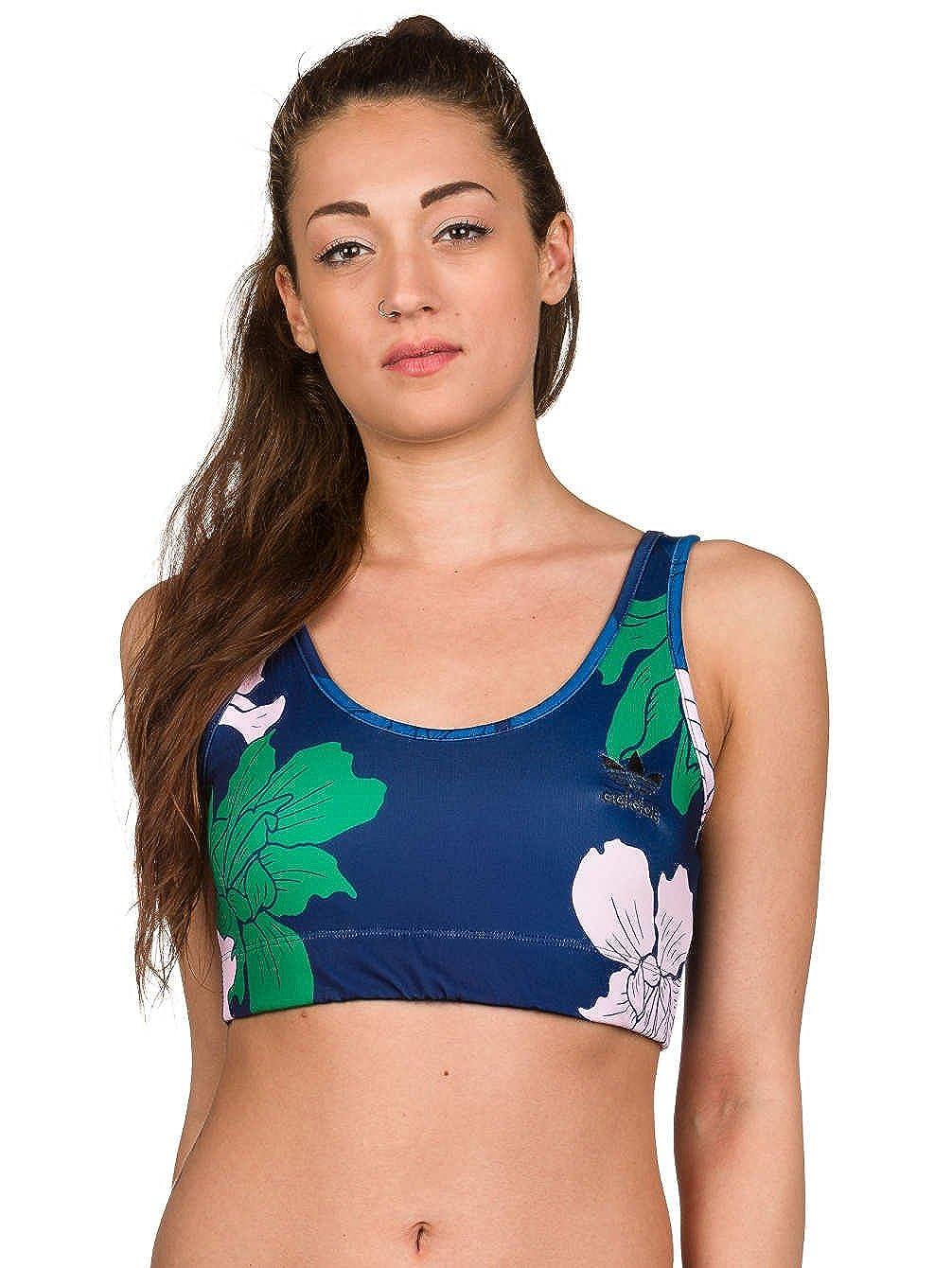adidas Originals - Sujetador deportivo Mujer - Gimnasio Floral Chaleco - Azul