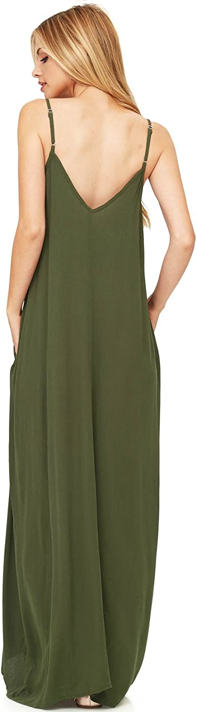 Love Stitch Womens Light Linen Simple Maxi Dress
