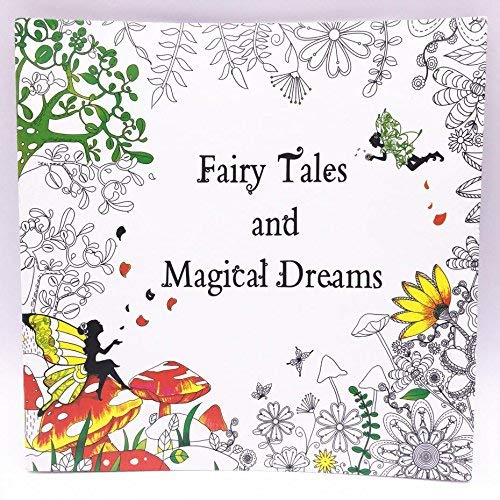 Gotical Adult Coloring Books : Fairy Tales and Magical Dreams : Relieve Stress Color Book Book 50 Pages