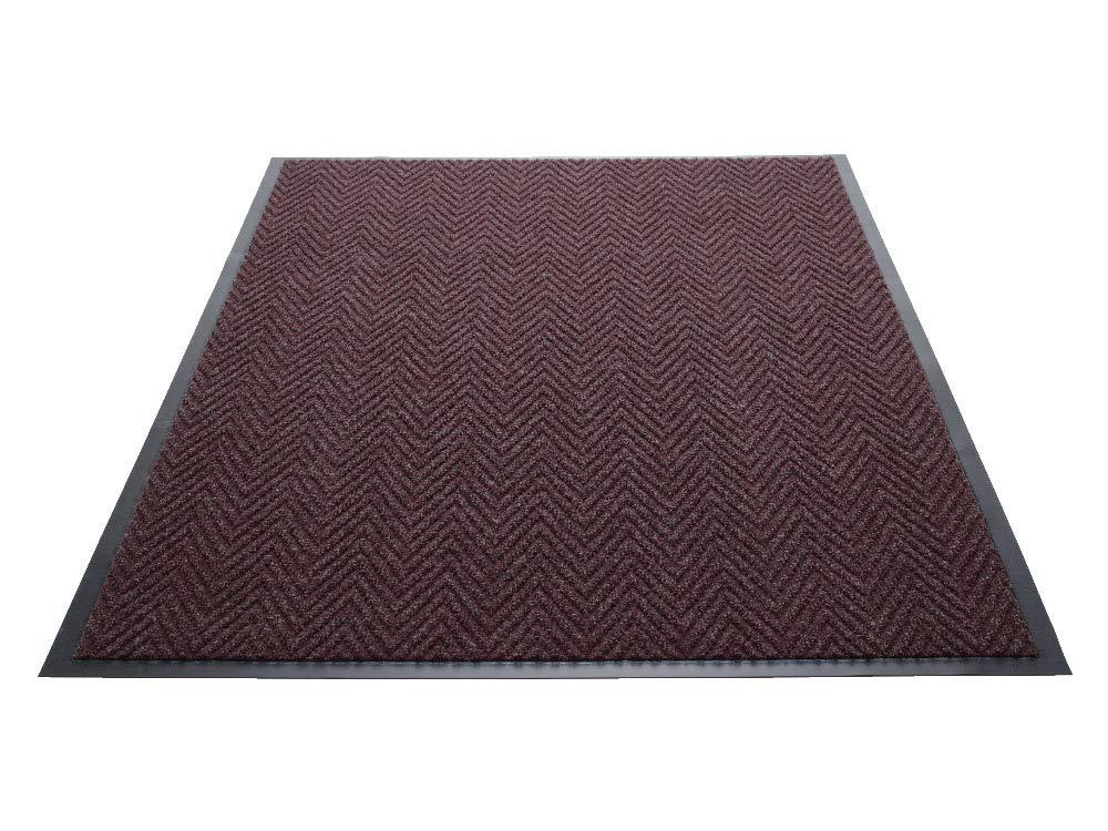Blue Vinyl//Polypropylene Guardian Golden Series Chevron Indoor Wiper Floor Mat 4x8