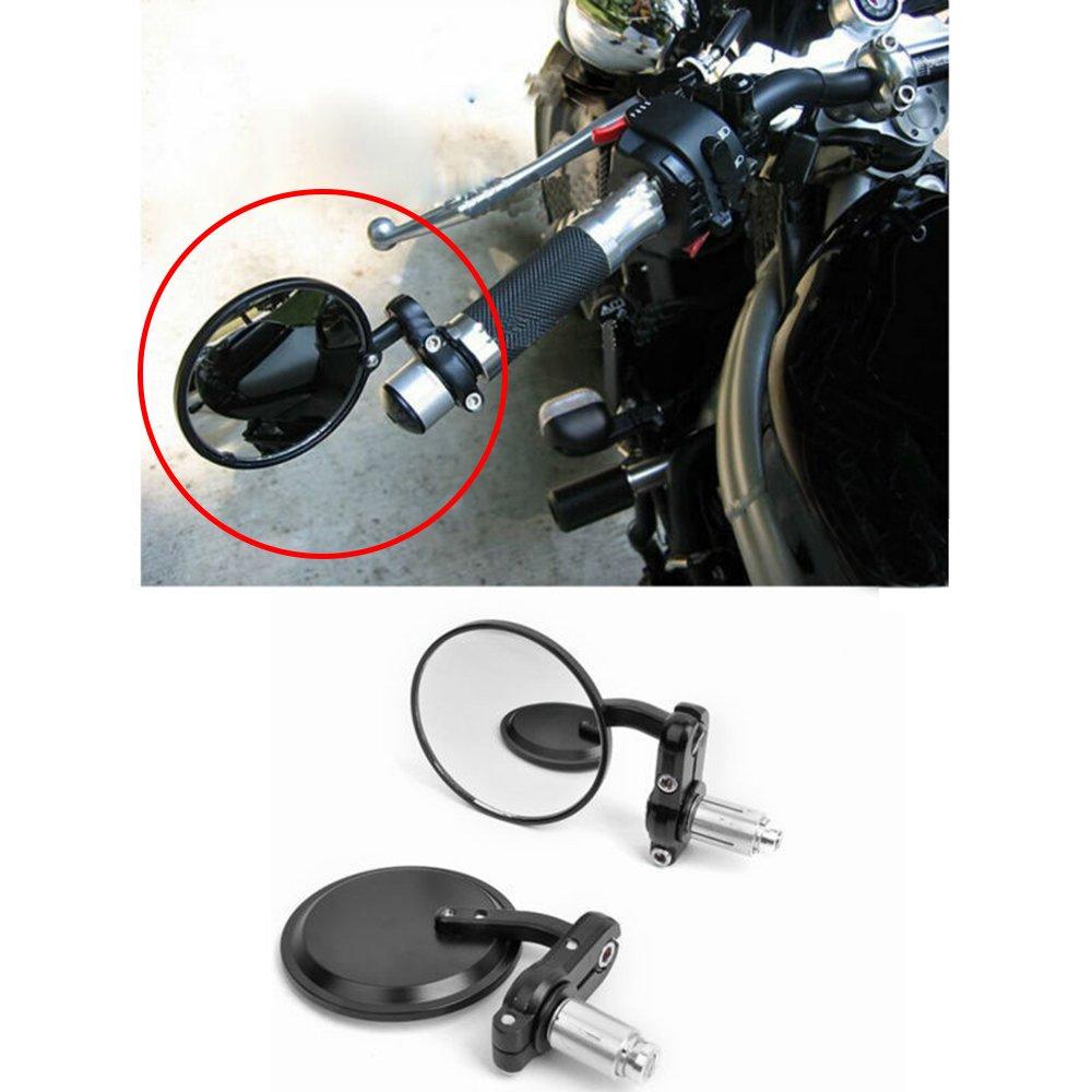 1 Coppia Specchietti retrovisori moto Universali 8MM 10MM CNC Manubrio alluminio specchietti laterali Specchietti laterali oro