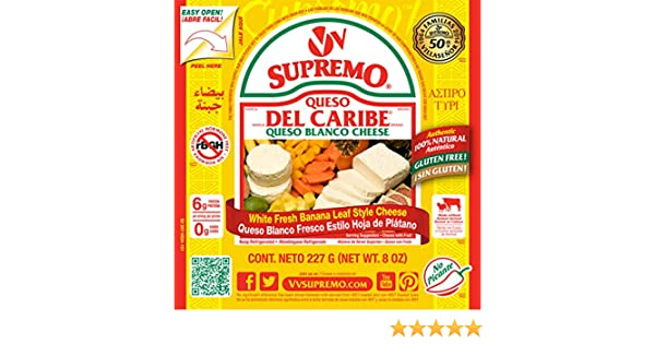 V&V Supremo, Queso Del Caribe Queso Blanco Cheese, 8 oz: Amazon.com: Grocery & Gourmet Food
