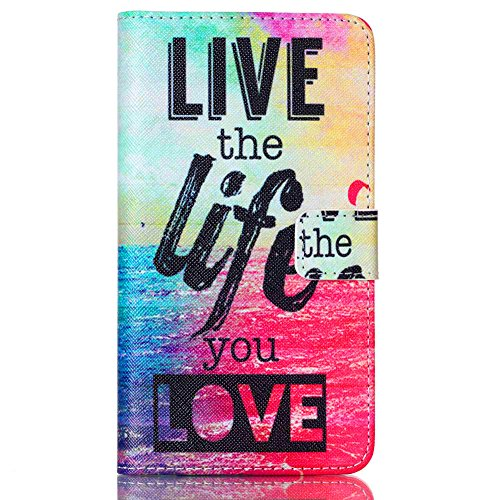Price comparison product image LG G Stylo Case,JanCalm [Perfect Fit][Kickstand] Pattern Premium PU Leather Wallet [Card/Cash Slots] Flip Cover for LG G Stylo / LG G4 Stylus *Including-ONE Crystal Pen (Live The Life You Love)
