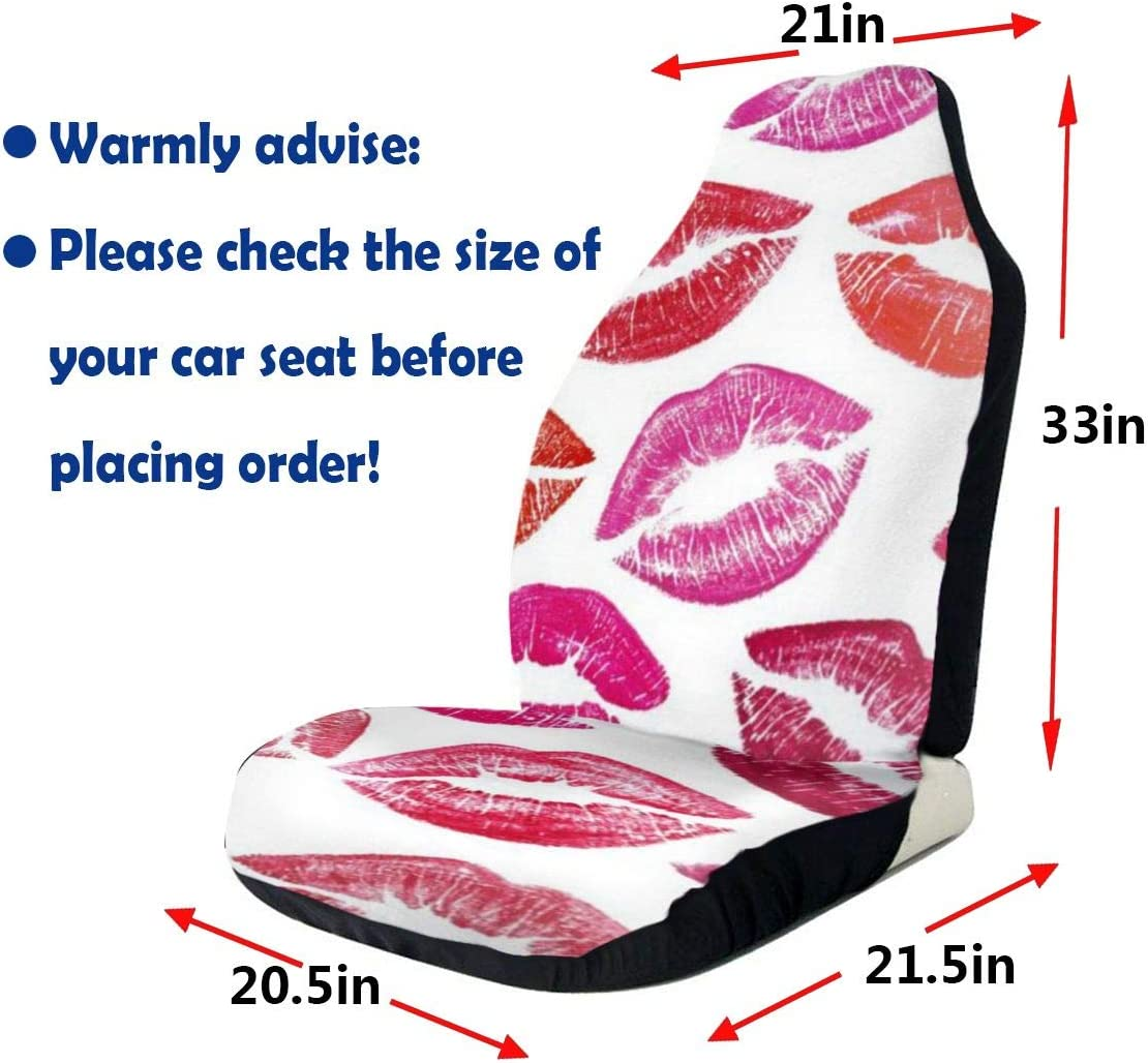 Ranaek Car Seat Covers ProtectorGlamour Lips Seat Cover for Automobile Jeep Truck SUV Full Set Accessories for Adult Women