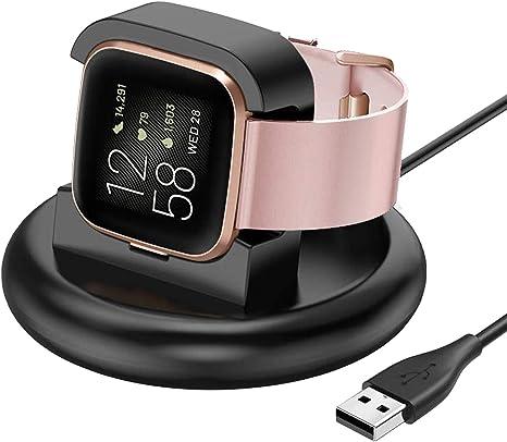 JSxhisxnuid Etui pour Fitbit Versa 2-100 CM de Chargement Rapide Chargeur Base Station de Magn/étique Recharge pour Montre Intelligente Fitbit Versa 2 Chargeur Dock