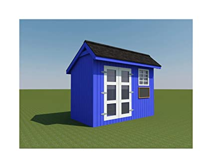 Kids Playhouse Plans DIY Backyard Storage Shed Workshop Mini Cottage Guest  House
