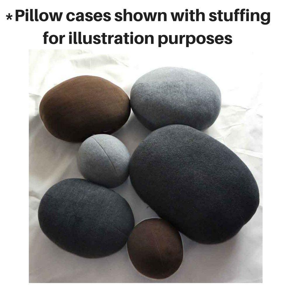 6 Piece Set Mixed Color Big Huge Stone Pebble Rock Living Pillows Pets Floor Cushions Decoration Throw Pillows NO FILLING