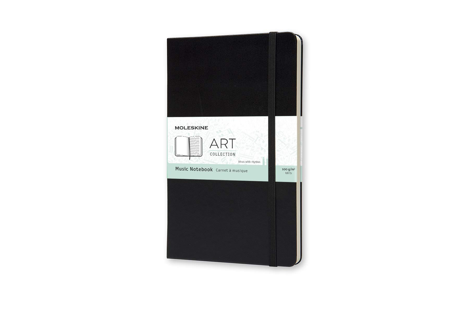 Moleskine Art Plus Hard Cover Music Notebook, Mixed (Blank -