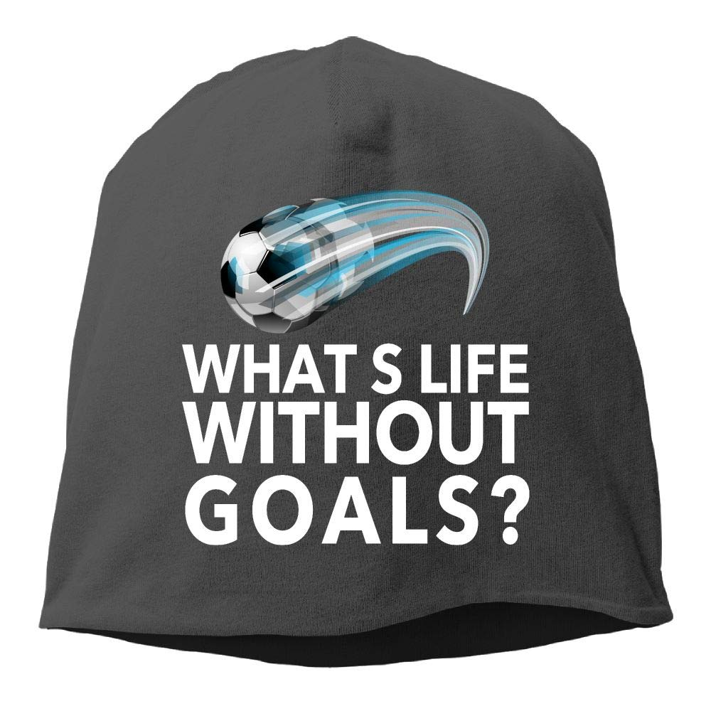 Headscarf Whats Life Without Goals Soccer Hip-Hop Knitted Hat for Mens Womens Fashion Beanie Cap