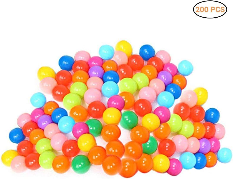 EisEyen 200PCS Respetuoso del Medio Ambiente Bola de Colores de plástico Suave Bola del océano bebé Chico Nadar Pozo Juguete Piscina de Agua de Ola de océano Bola
