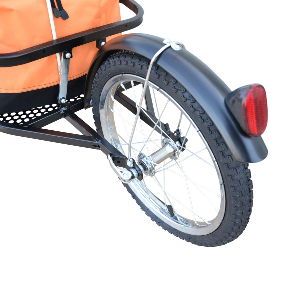 Polironeshop Vector fahrradanh/änger lastenanh/änger einrad anh/änger gep/äckanh/änger mit Tasche