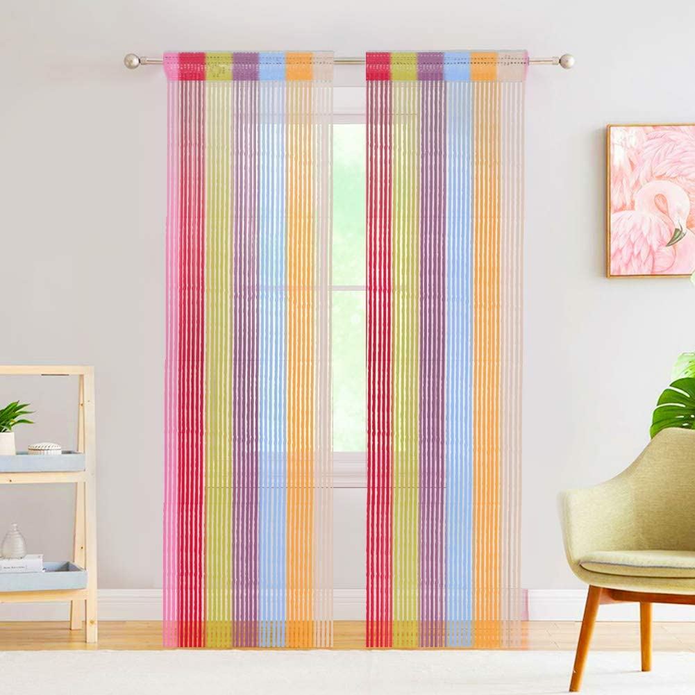 Door String Curtain Tassel Curtain - Curtain for Doorway Partition Door Curtain String Curtain Door Screen Panel Home Decor Window Divider Tassel Screen