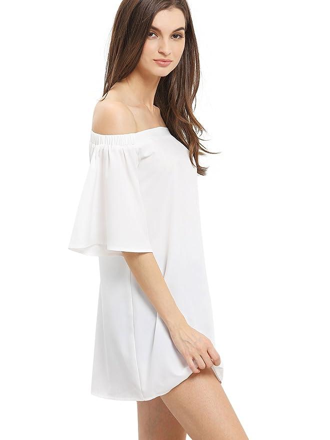 SHEIN de la mujer Off el hombro mitad manga cambio vestido: Amazon.es: Ropa y accesorios