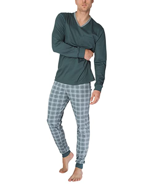 Calida Liam Herren Pyjama, Conjuntos de Pijama para Hombre: Amazon.es: Ropa y accesorios
