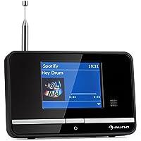 """auna iAdapt 320 Internet Radio • Adapter • WLAN • DAB/DAB + • AM/FM Tuner • 3.2"""" TFT Display • Spotify Connect • Multiroom • App Control • Alarm Clock • Easy Control • Remote Control • Black"""