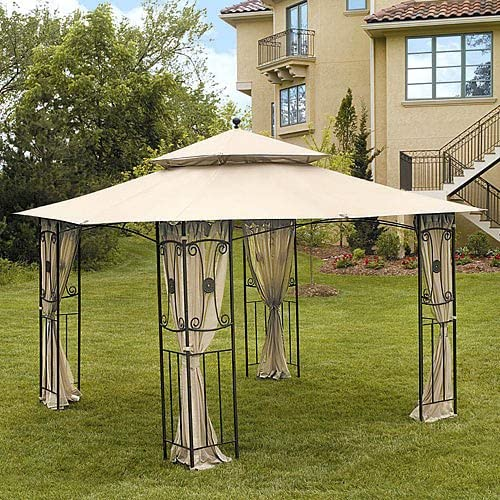 Garden Winds Replacement Canopy Top Cover for Mika Ridge, Colonial Estates, and River Delta Gazebos – RipLock 500