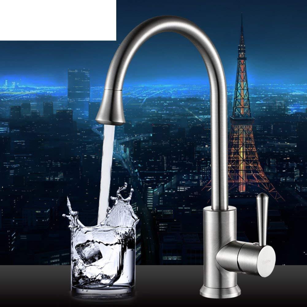 Oudan Space aluminum sink vegetables basin faucet Hot and cold kitchen faucet redatable faucet (color   -, Size   -)