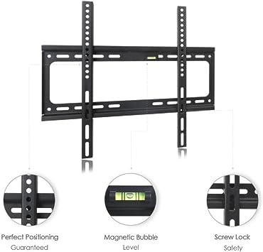 hamhsin 26 – 63 Pulgadas Universal Soporte de Pared para televisor Plano Brazo estándar Hole Brazo LED LCD de Pantalla Plana Ajustable: Amazon.es: Electrónica