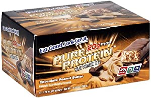 Pure Protein High Protein Bar, Chocolate Peanut Butter, 6 Bars, 1.76 Ounces