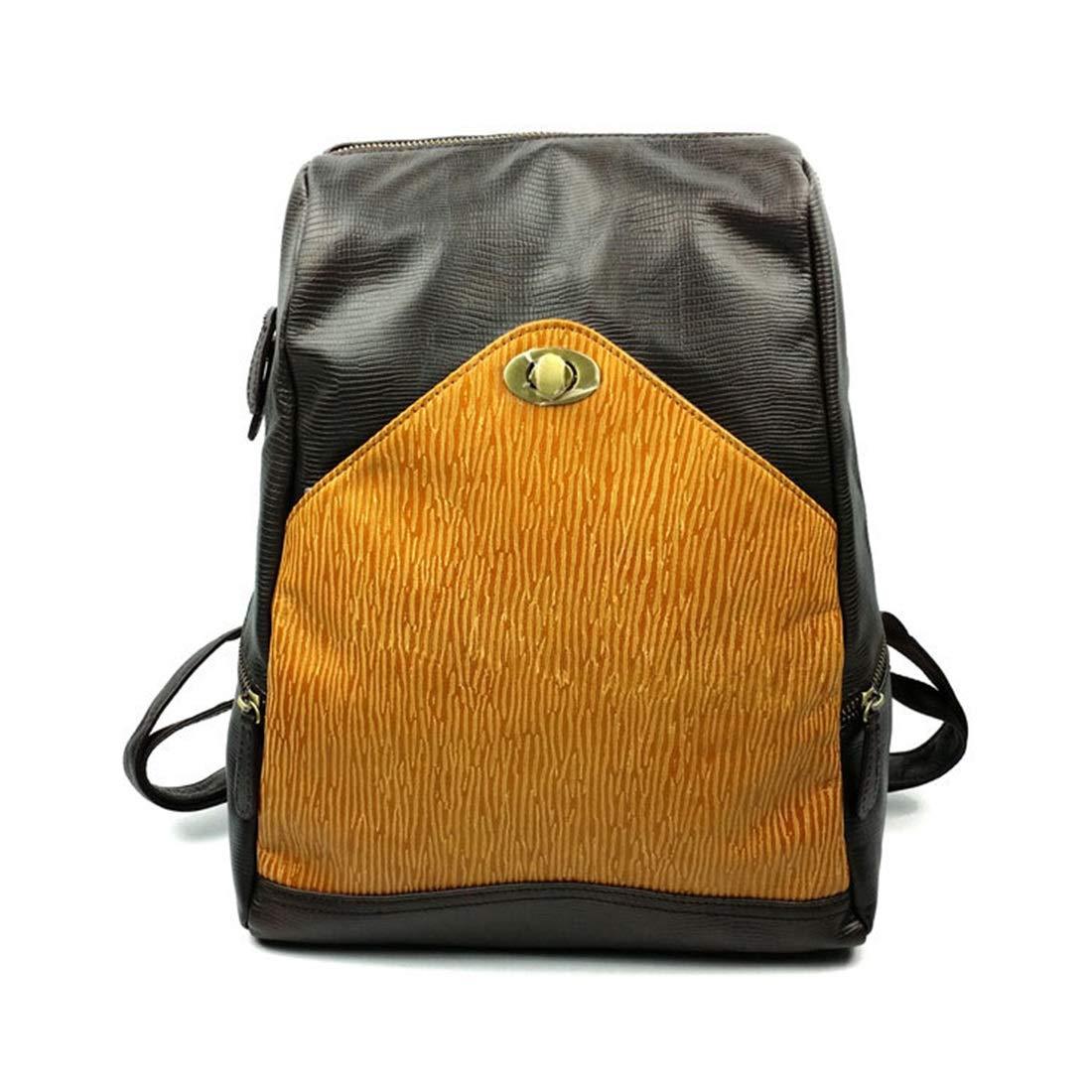 RENSHIHR レディースバックパック財布防水レザーヴィンテージリュックサック軽量学校ショルダーバッグ (Color : Dark gray) B07N1919Z1 Dark gray