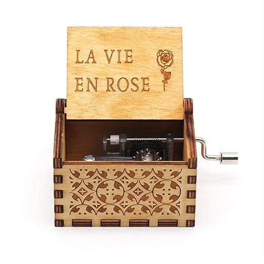 IANSISI Caja Musica Niña No Puedo Evitar Enamorarte Fly Me To The Moon Juego De Tronos Music Box La Vie En Rose Star Wars Vie en Rose: Amazon.es: Hogar