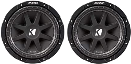"KICKER 43C104 10/"" COMP 4-OHM SVC 300 WATT SUBWOOFER"