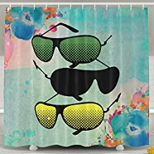 Sunglasses Shower Curtains Shower Curtain Colorful Shower Curtains