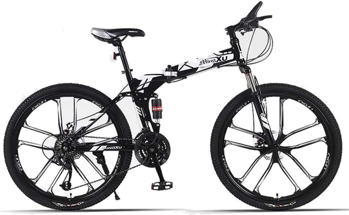 KOSGK Bicicletas Unisex 26 27-Speed Plegable Mountain Trail ...