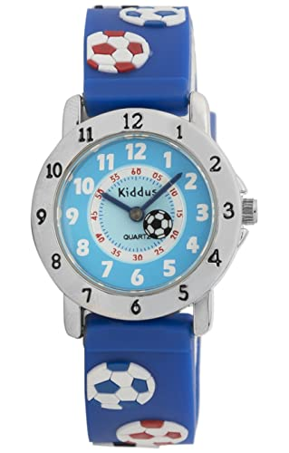 KIDDUS Reloj Infantil Niño Educativo Analógico Cuarzo Correa Goma. RE0270: Amazon.es: Relojes