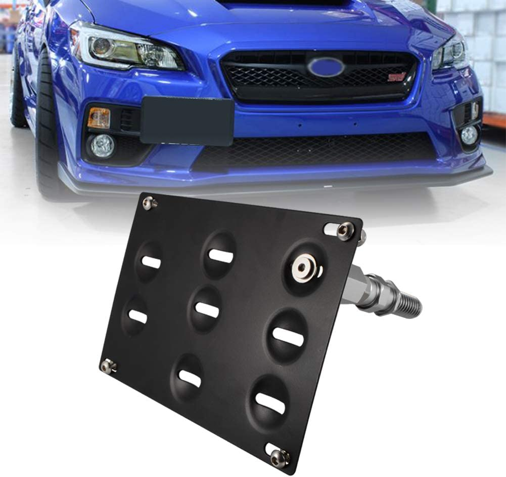 runmade For Bumper Tow Hook License Plate Bracket Holder Compatible with Subaru WRX STI Forester Impreza