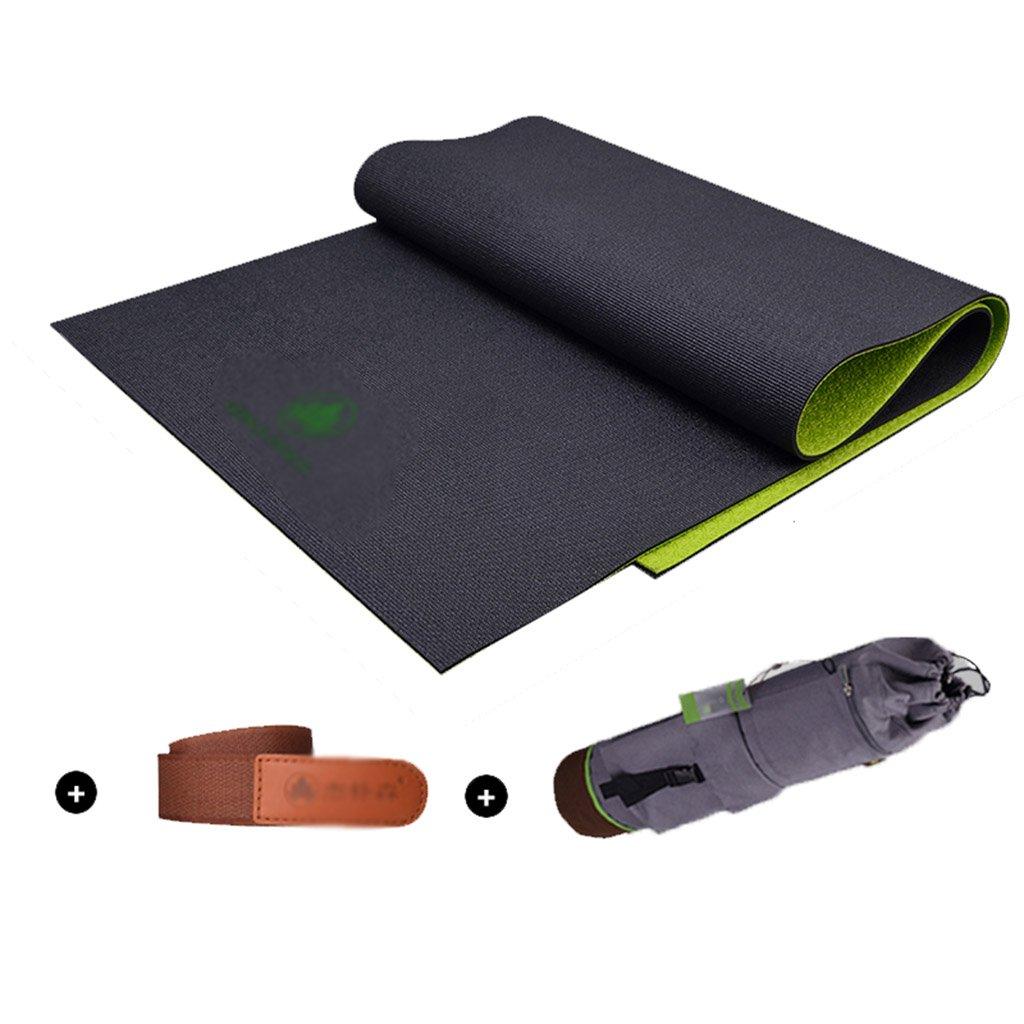 マット ヨガマットフィットネスジャンプマットダンスキャンプスポーツマット滑り止め衝撃吸収ノイズ72 * 24 * 0.2インチ ヨガ (Color : Black, Size : 183*61*0.6cm) B07QKWQSMV  Black 183*61*0.6cm