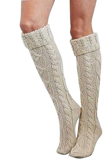 Sopliagon Calcetines De Bota Hasta La Rodilla Para Mujer Albaricoque One Size: Amazon.es: Ropa y accesorios