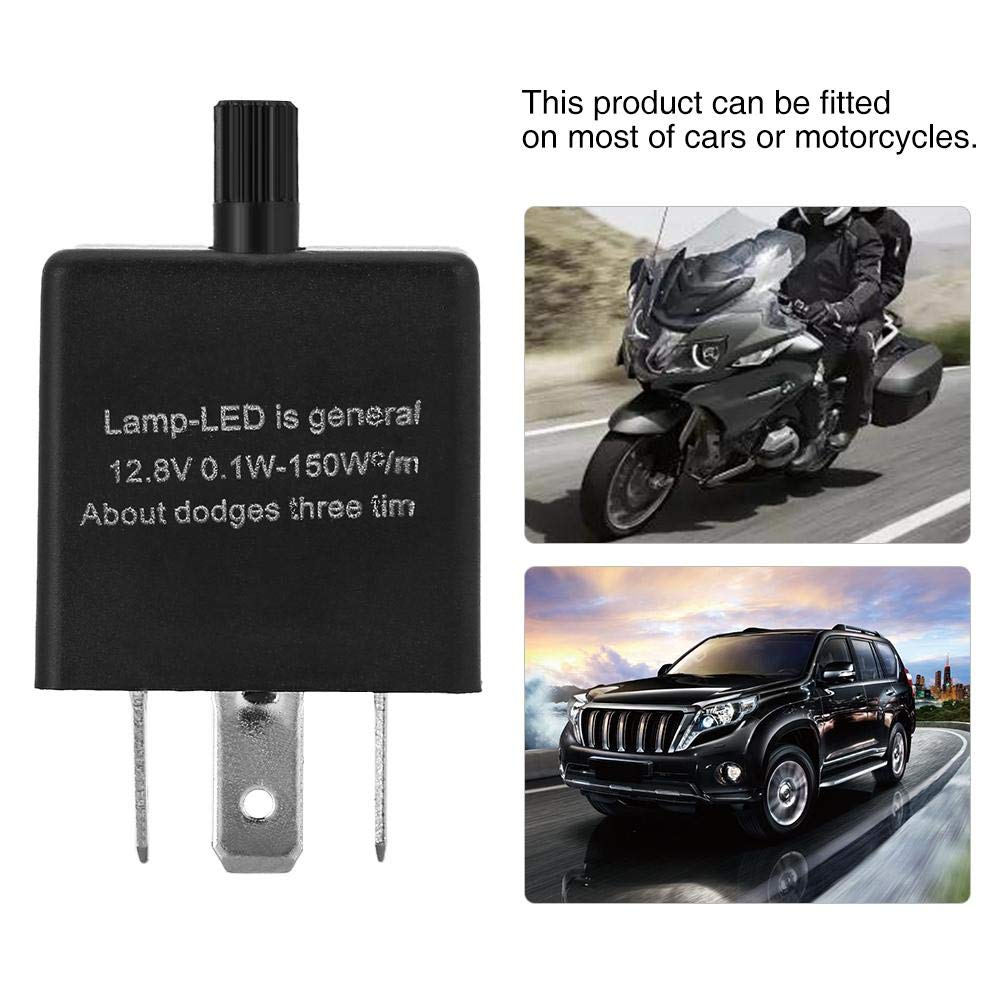 12V 3 Pin Adjustable LED Light Flasher Blinker Relay Fix Electronic Relay For Turn Signal Indicator LED Hyper Fast Blink