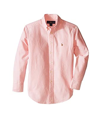 59765a9b Image Unavailable. Image not available for. Color: Polo Ralph Lauren Kids  Solid Oxford Shirt Big Kids Pink ...