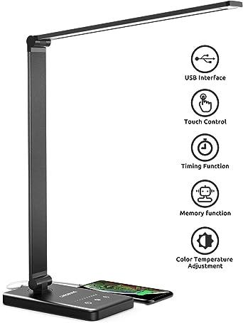 Chesbung Lámpara de escritorio LED, lámpara de mesa regulable 5 ...
