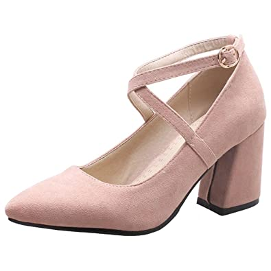 b423f0f76099 AIYOUMEI Blockabsatz High Heels Pumps mit 7cm Abstaz Somer Schuhe Damen -  goettingen-versicherung.de