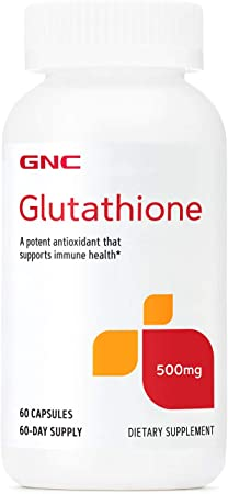 GNC Glutathione 500mg, 60 Capsules, Supports Immune Health