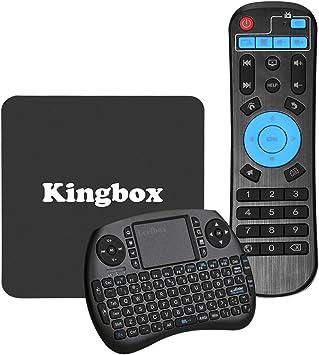 Pure versión] kingbox K1 Android 6.0 TV caja con Mini teclado 4 K S905 X 64 bits 1 + 8GB 2,4 G Wifi Lan 100 M Android TV Box Apoyo Full HD/H.265: Amazon.es: Electrónica