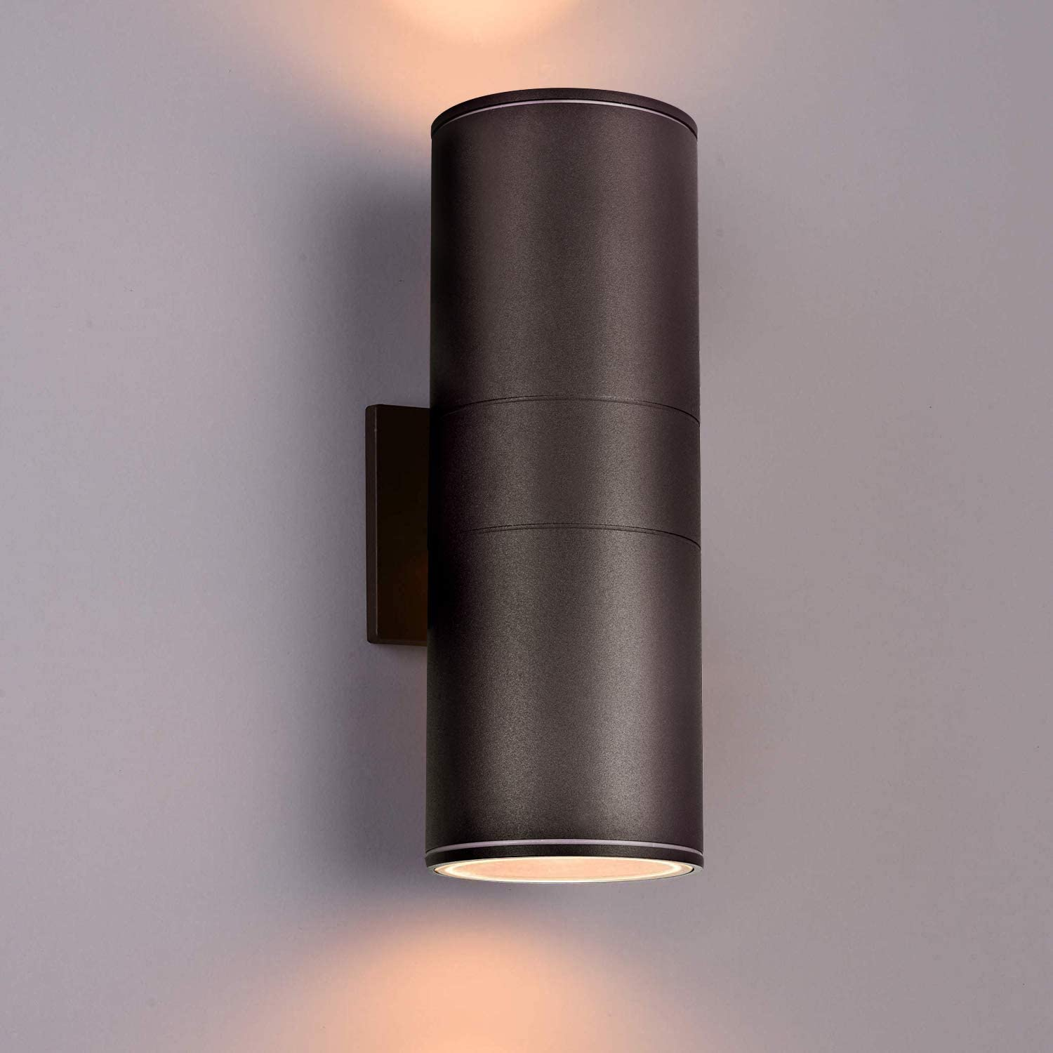 Outdoor Wall Light, Bling Dusk to Dawn Exterior Lighting in 2 Lights - ETL Listed,Aluminum Waterproof Wall Mount Sconce Cylinder Design - Up Down Light Fixture for Porch, Backyard and Patio