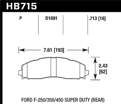 Hawk Performance HB715P.713 Street Race Brake Pad