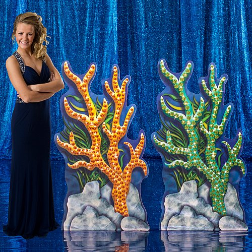 4 ft. 3 in. Treasures of The Deep Sea Ocean Small Coral Standees Standup Photo Booth Prop Background Backdrop Party Decoration Decor Scene Setter Cardboard Cutout